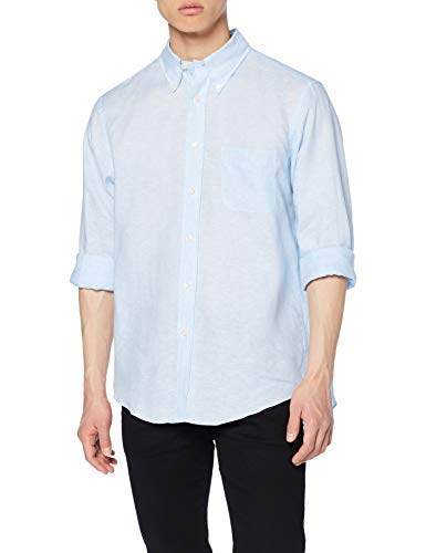Brooks Brothers Camicia Regent Taschino Manica Lunga Sportiva, Blu (Open Blue 465), Medium (Taglia Produttore:M) Uomo