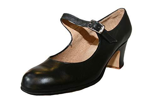 Flamenco Schuhe Mädchen Leder mit Nägeln Herren, Schwarz (schwarz), 32 EU
