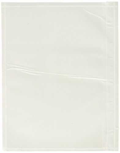 """7.5"""" x 5.5"""" Clear Adhesive Top Loading Packing List/Shipping Label Envelopes Pouches (100 pk)"""