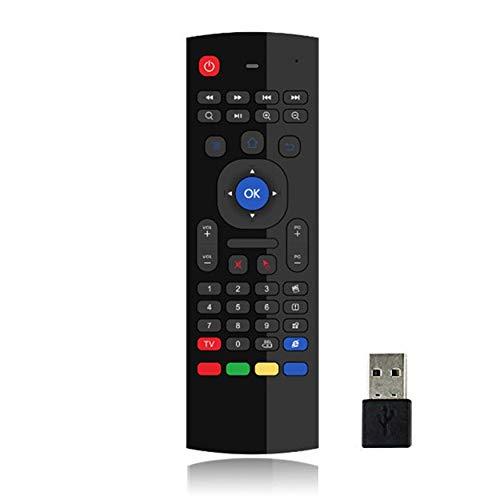 N / E Mx3 Air Mouse Versión Retroiluminada Android Smart Wireless Air Mouse Control Remoto T3 Mouse y Teclado Accesorios para el hogar