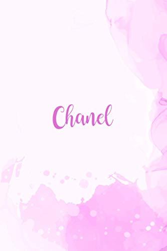 Chanel: Personalisiertes A5-Notizbuch, Blumenmaskenabdeckung, universelles Notizbuch mit Namen, 120 Seiten, Tagebuch, Regel, Bälle, Ideenbuch, ... Weihnachts- und Geburtstagsgeschenk