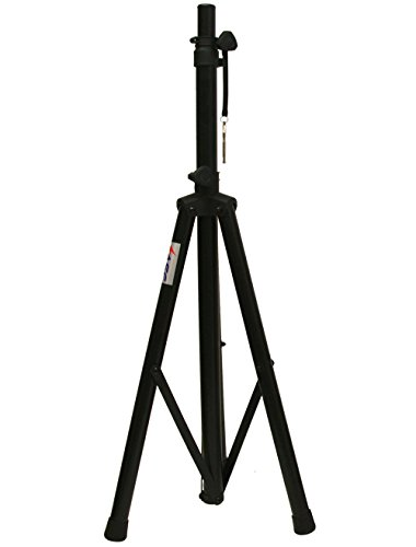 """ASC Pro Audio Mobile DJ PA Heavy Duty Universal Speaker Stand Lighting 6 Foot Adjustable Height Tripod 72"""" Max Height Locking Safety Pin Non slip"""