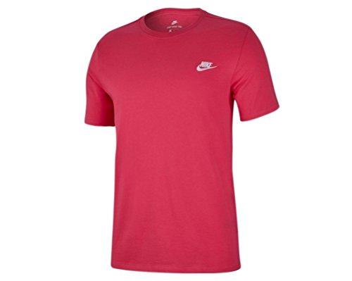 Nike Herren Club Embroidered Futura T-Shirt (Rosa, L)