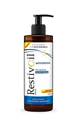 RestivOil Complex Shampoo Antiforfora per Capelli da Normali a Grassi, Olio Fisiologico con Azione Antiseborroica e Anti Prurito, 400 ml