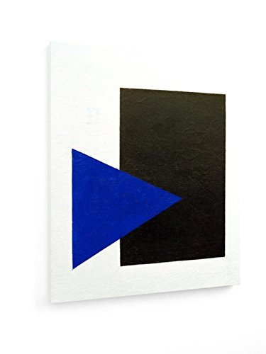weewado Kasimir Malevich - Cuadrado Negro - Triángulo Azul - 50x60 cm - Impresión en Lienzo Textil - Muro de Arte - Old Masters/Museum