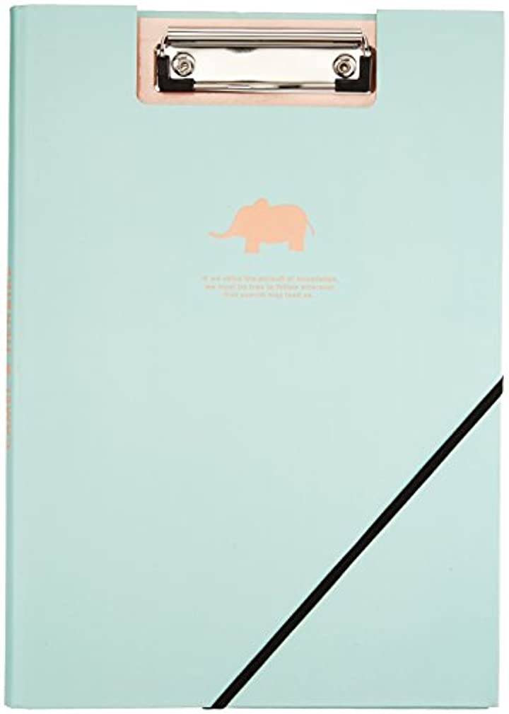 Cindy&Will A4 Office Stationary Double-Clip Document/File/Folder/Data Paper Clipboards with Bandage,Blue by AUCH