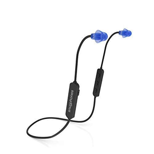 Snug Phones wireless silicon BLUETOOTH ear plug headphones. Noise cancelling IPX6 waterproof...