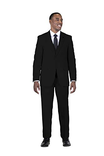 MY'S Men's 3 Piece Suit Blazer Slim Fit One Button Notch Lapel Dress Business Wedding Party Jacket Vest Pants & Tie Set Deep Blue, S, 5'7-5'10, 140-160lbs