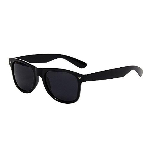 Shiratori Classic 80's Vintage Style Design Polarized Sunglasses (black, Grey)