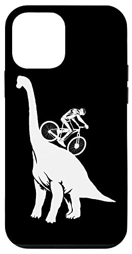 iPhone 12 mini Funny MTB Brachiosaurus Dinosaur | Cute Mountain Bike Gift Case