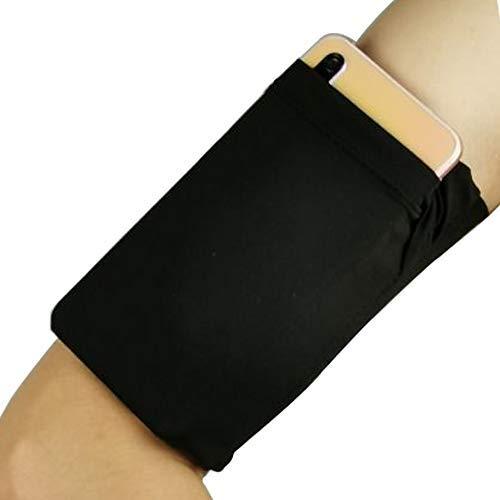 Brazalete para correr, cómodo soporte para brazo de teléfono con un bolsillo de forma segura para llevar tarjetas de crédito, llaves, dinero en efectivo, id perfecto para..