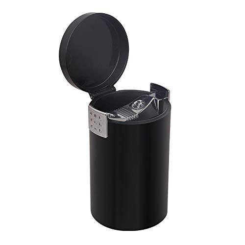 Xcwsmdq Mülleimer Auto-Aschenbecher Rauch Sicherheit Flammschutz Multi-Funktions-Abfalleimer Tragbare Wasch Reinigungsmittel (Color Name : Black)