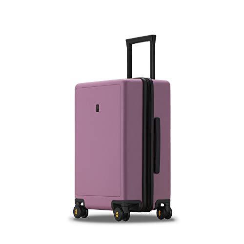 LEVEL8 Maleta, Maleta Cabina de Viaje Rígida 4 Ruedas Trolley 50 cm PC, Maletas de Viaje Rígidas, Equipaje de Mano con candado de TSA, Maleta de Cabina 37x23.5x54.5 cms, 40L, Púrpura