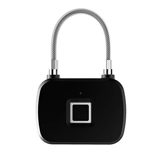 Denash Smart Keyless Lock, Tragbares Fingerabdruck-LED-Vorhängeschloss zur Diebstahlsicherung für Gepäckschränke Leicht zu Transportieren