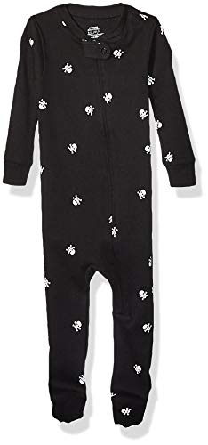 Amazon Essentials Unisex Kinder Zip-Front infant-and-toddler-sleepers, Schwarz (Black Skull), 95 cm (Herstellergröße: 3T)