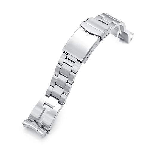 20mm Retro Rasiermesser Uhr Armband Für Seiko Mini Turtles Srpc35, Gebürsteter V-Verschluss
