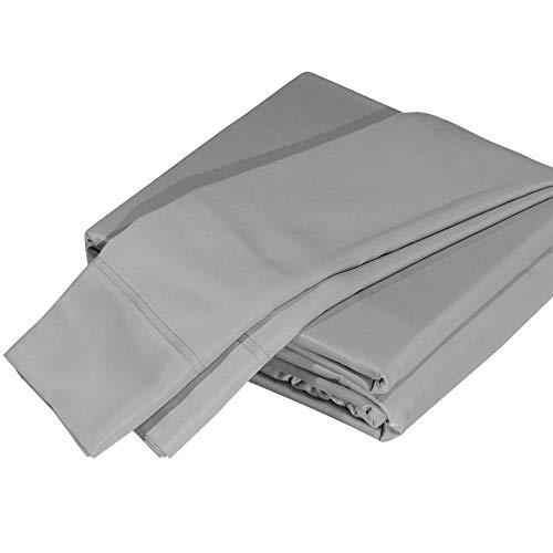 DTY Bedding Luxuriously Soft 100% Organic Bamboo 4-Piece Sheet Set, Oeko-TEX Certified - Queen, Silver Gray