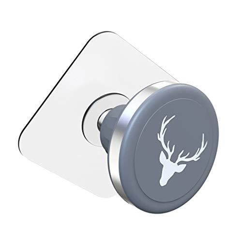 UKCOCO Soporte Magnético para Teléfono Soporte para Llave de Coche para Salpicadero de Coche Espejo de Pared Parabrisas de La Cocina Mesita de Noche de Baño Tablets Grabar Video Gris