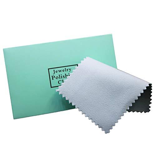 Vrttlkkfe 50 panni per lucidatura in argento con imballaggio panno per la pulizia argentato, panno per pulire la pelle scamosciata argentata, 50 pezzi