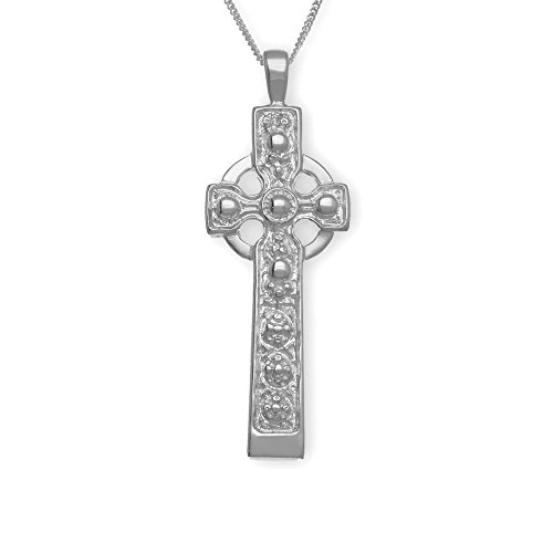 Sterling Silver Traditional Scottish Iona Cross Hand Crafted Necklace Pendant
