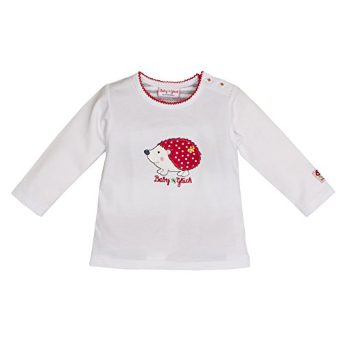 SALT AND PEPPER Salt & Pepper Baby-Mädchen BG Longsleeve Uni Igel Langarmshirt, Weiß (White 010), 56