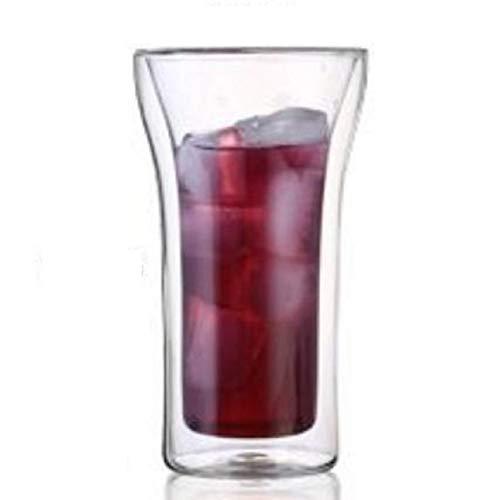 【morningplace】 ダブルウォール グラス タンブラー ビアグラス 二重構造 耐熱 カップ 400ml (1個)