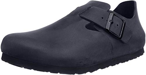 Birkenstock Womens London Clog Black Oiled Leather Size 37 EU (6-6.5 M US Women)