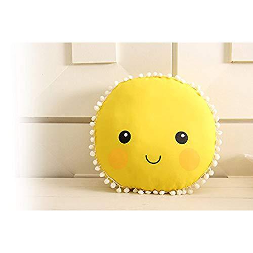 Hdsnk schattig zon glimlach gezicht patroon kussen baby kussen speelgoed slapende poppen Kids kamer bed bank decoratie cadeau