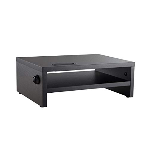 VonHaus Wood Monitor Stand Riser, Desk Monitor Stand with Smart Phone...