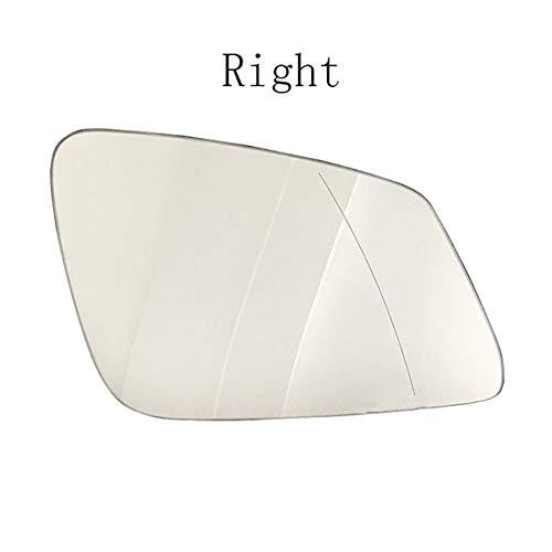 Kit de espejo lateral Auto Gran Angular Izquierda Derecha Climatizada Espejo De Ala Trasera De Cristal En Forma For El BMW Serie 5 6 7 F10 F18 F35 F02 E60 51167251583 51167251584 Espejo de repuesto pa