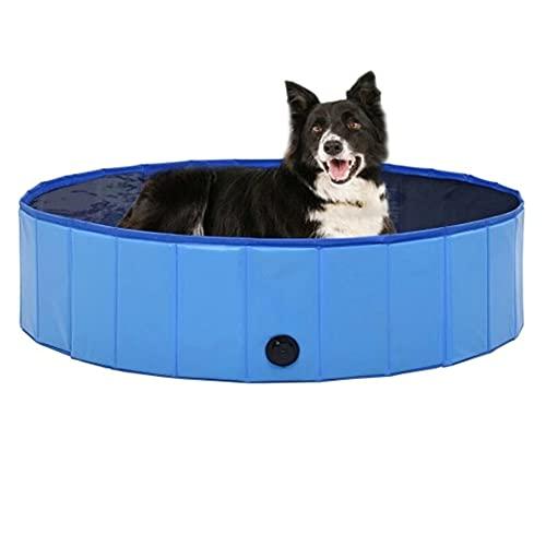 Hoom Piscina Plegable para Perros Gatos Bañera Portátil para Mascotas Plegable PVC Antideslizante y Resistente al Desgaste (A80*20CM)
