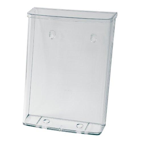 SIGEL LH325 Wetterfester DIN A4 Prospekthalter, Prospektbox mit Deckel, für den Außeneinsatz, aus Acryl, außen wetterfest draußen, große Fülltiefe