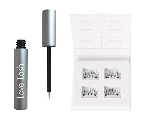Love Lash Magnetic Liner Eyeliner and Magnetic Eyelash Bundle Foolproof Application of Magnetic Lashes Waterproof and Smudge Resisitant