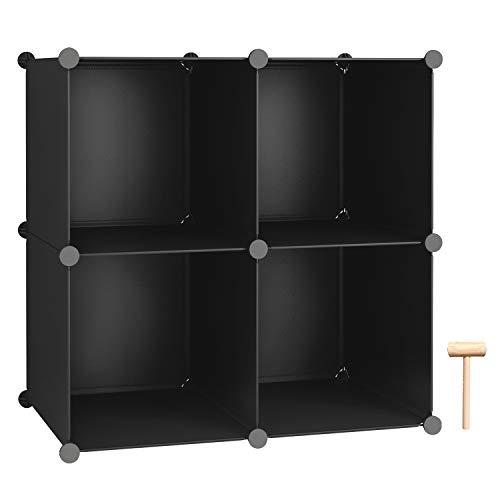 36.6 L x 12.4 W x 36.6 H Black Closet Cabinet Office Ideal for Bedroom Living Room C/&AHOME Cube Storage Organizer DIY Plastic Modular Book Shelf 9-Cube Shelves Units