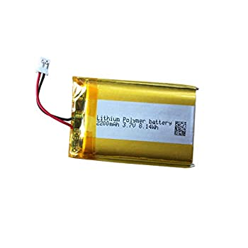 Cuh-zct1u Battery LIP1922-B 3.7v 2200mAh for PS4 Controller Battery Replacement Compatible with DualShock 4 Wireless Controller Cuh-zct1e Without Light Bar on Touchpad