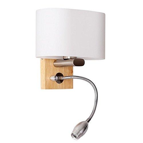 SiwuxieLamp applique murale Chevet moderne simple créatif bois massif LED en bois chambre salon allée couloir hôtel lumière support