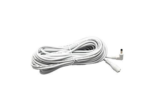 DC verlengkabel 10 m stroom DC kabel in wit/DC-holle stekker/DC-stekker in het formaat 4,0 mm x 1,7 mm - 10 meter