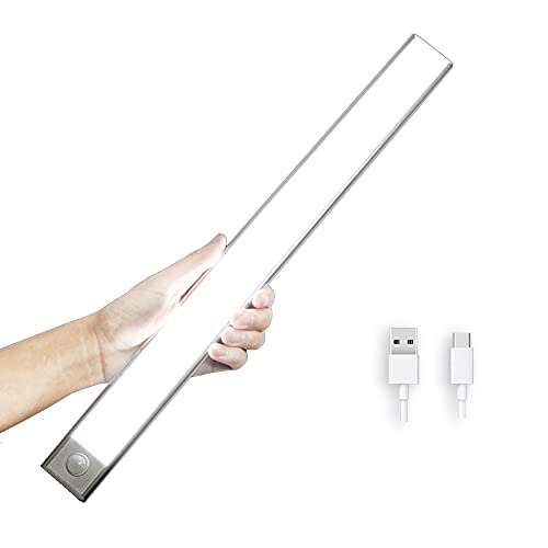 Sinnohome LEDセンサーライト 人感センサーライト 室内 LED バーライト 1500mAH USB充電式 貼り付け式 3Mテープ/マグネット付 人感/明暗センサー 自動点灯 テープライト キッチン/玄関/寝室/夜間照明/足元灯 昼白色