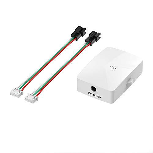 BTF-LIGHTING WS2812B WS2811 1903 etc LED Banda Wifi Controlador de música con puertos de salida de doble señal iOS/Android App Support Alexa/Google Home/IFTTT