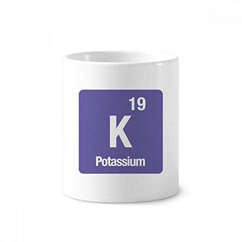 K Kalium Chemische Chem Keramik Zahnbürste Stifthalter Becher weiß Tasse 350ml Geschenk