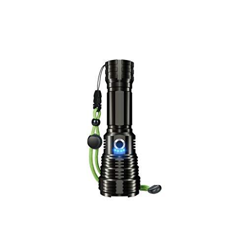 ZHIHUI Linternas LED Recargable USB 3000 Alto Lumens 5 Modos de Linterna Zoomable Camping Senderismo Ciclismo Actividad Al Aire Libre (Color : A)
