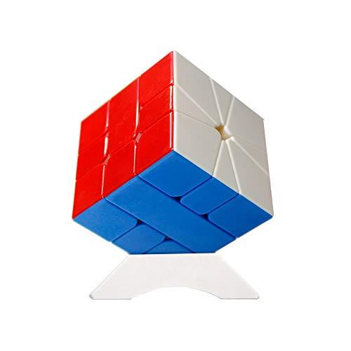 OJIN YuXin Little Magic SQ1 Cubo de Velocidad Cuadrado-1 Cubo Suavemente rápido Twist Puzzle Rompecabezas de Enigmas Cubo con un Cubo (Sin Etiqueta)