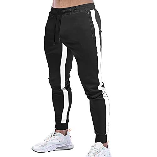 JEPOZRA Pantalones Deportivos Hombre Pantalon Jogger Casual Deporte Chandal Entrenamiento Fitness Pantalones Slim Fit Cargo Trouser Cintura Elástica Ajustable