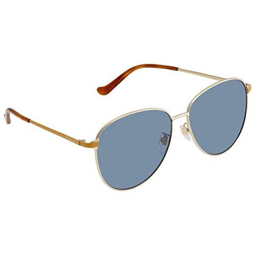 Gucci Sonnenbrille GG0573SK 004 Man Sonnenbrille Farbe Goldblau Linsengröße 60 mm