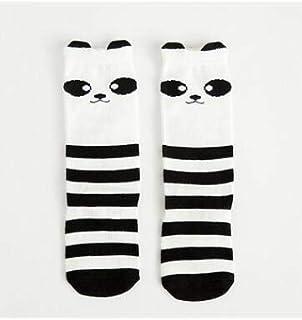 LIXUDECO, LIXUDECO Calcetines cálidos Niños Calentadores de la pierna del bebé Hongos y calentadores de la pierna del niño del bebé de encaje de algodón a su bebé Stocking Negro calcetines ordinarios del Bowkno