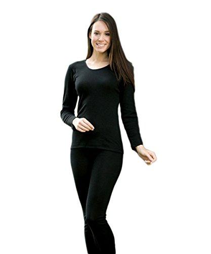 Engel - Women`s Unterhemd L/S - Silk Base Layer Size 34/36, Black