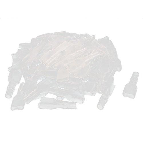 sourcingmap® 65 Stk 6,3 mm Flachsteckhülse Kabels Stecker isolierte Hülse Abdeckung transparent DE de