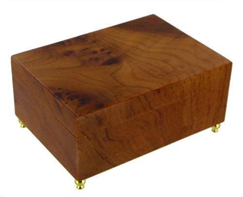 Caja de música para joyas / joyero musical de madera con mecanismo musical de resorte de 18 notas - El vals de Amélie Poulain - Amélie - El fabuloso destino de Amélie Poulain (Yann Tiersen)