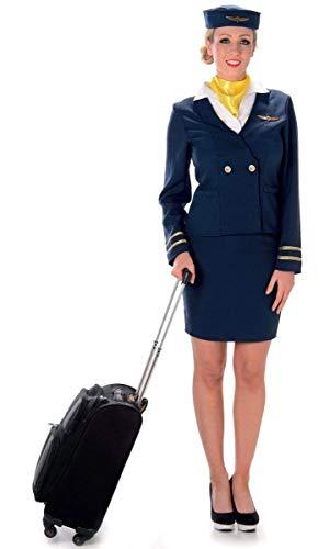 Karnival 81050Flugbegleiterinnen-Kostüm, Damen, blau, Größe M