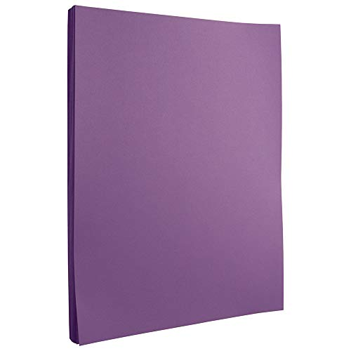 JAM PAPER Colored 24lb Paper - 90 GSM - 8.5 x 11 - Violet Recycled - 50 Sheets/Pack